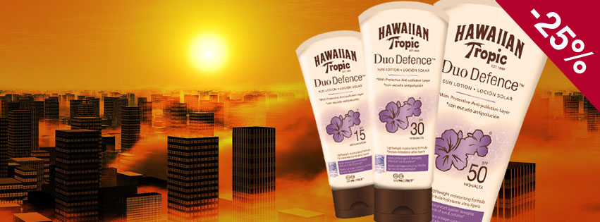HAWAIIAN TROPIC DUO DEFENCE : CREMES SOLAIRES ANTI-POLLUTION
