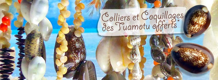 COLLIERS ET COQUILLAGES DE TAHITI OFFERTS*