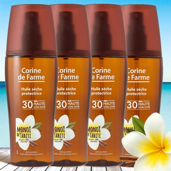 4 HUILES SECHES PROTECTRICES 150ML SPF 30 (DONT 1 GRATUIT)