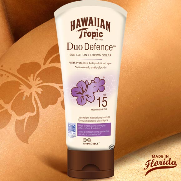 DUO DEFENCE ANTI-POLLUTION 180ML HAWAIIAN TROPIC SPF15