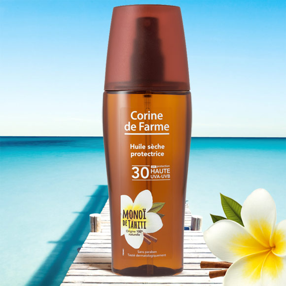 HUILE SECHE PROTECTRICE SPF30 150ML SPRAY CORINE DE FARME