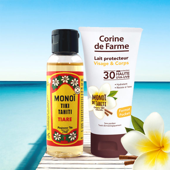 KIT BRONZAGE LAIT SPF 30 50 ML + MONOI DE TAHITI 60ML