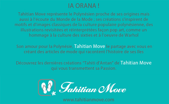Message de Tahitian Move aux clients de La Boutique du Monoï